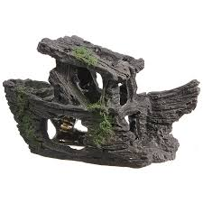 aquarium fish tank rock shipwrecks hiding cave landscape decor