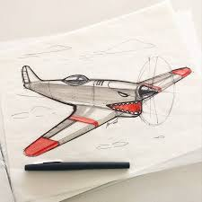 airplane sketch a day sketches by spencer nugent