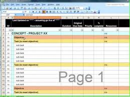 Work Breakdown Structure Excel Template Wbs Spreadsheet