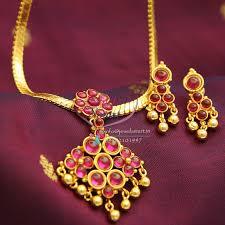 kempu earrings nl0993 indian traditional temple kempu attigai spinel ruby