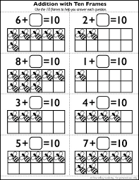 number bonds to 10 free math worksheets math addition learning