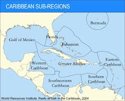 Map Of The Caribbean Islands by Caribbean Sub Regions World Resources Institute