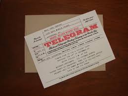 Telegram Wedding Invitation 28 Best Vintage Mail Themed Party Images On Pinterest Themed