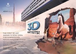 650 000 prize money for the dubai canvas 3d art award 2017