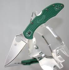 spyderco delica 4 flat ground plain edge lightweight frn knife
