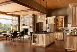 Hickory Kitchen Cabinets Rustic Hickory Kitchen Cabinets Solid Wood Kitchen Furniture Ideas