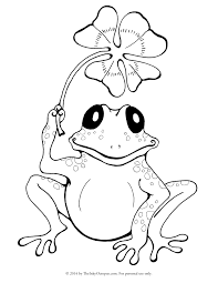 printable frog u0026 clover coloring page the inky octopus