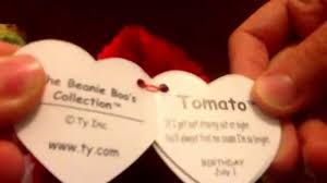 beanie boos 32 north 33 tomato 34 tabitha 35 ice cube