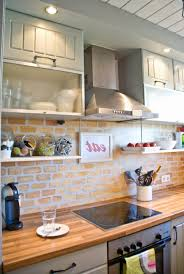 kitchen backsplash white brick tiles kitchen country kitchen