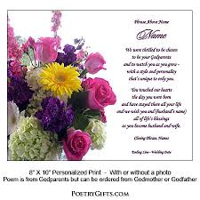 wedding wishes poem gift for goddaughter