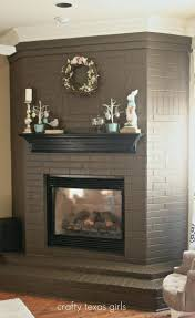 painting above fireplace ideas brick stone painted mantels paint