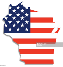 Wisconsin Usa Map Usa Flag Wisconsin Map Vector Art Getty Images