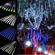 Multi Color Icicle Lights Falling Snow Christmas Lights Icicle Snow Fall 45m 30 Led String