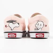 vans classic slip on sneakers in pearl rose with snoopy print vans classic slip on sneakers in pearl rose with snoopy print