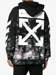 off white diagonal stripe print galaxy hoodie 578 buy aw17