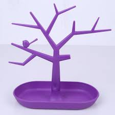 new pp plastic tree branch shape white green purple color earrings