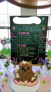 1st Birthday Party Decorations Homemade 1st Birthday Party Ideas First Birthday Information Poster Sign
