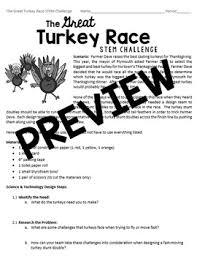 stem challenge the great turkey race smart board grades 5 8