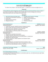 automotive technician resume samples automotive resumes unforgettable assistant manager resume examples previousnext previous image next image auto resume