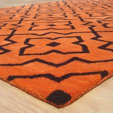 Grey And Orange Rug Geometric Style Modern Grey Orange Area Rug Adc Rugs