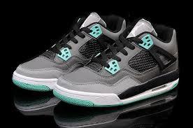 green glow 4 cheap air 4 green glow grey cement grey black