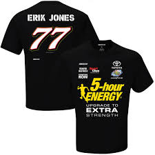 erik jones checkered flag uniform t shirt black fanatics com