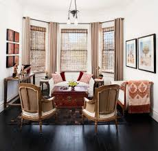 bay window treatments living room contemporary with built in