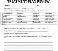 treatment plan review where i work pinterest notes template