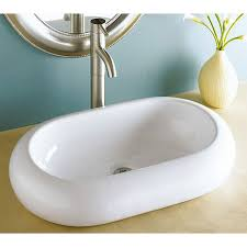 rounded edge oval porcelain ceramic countertop bathroom vessel