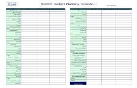 free personal budget worksheet worksheets