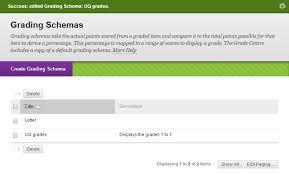create a grade schema 1 7 grades elearning the university of