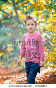portrait 5 year boy outdoor stock photo 312874811