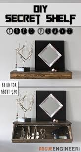 Floating Wood Shelf Plans by Diy Secret Floating Shelf Free Plans Rogues Shelves And Free