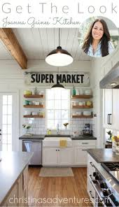 joanna gaines farmhouse kitchen with cabinets get the look joanna gaines kitchen home kitchens kitchen