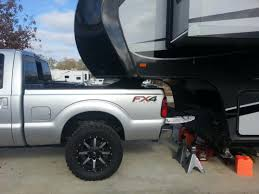 Old Ford Truck Lifted - towing a 5th wheel with a 4 5