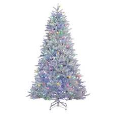 white christmas tree with colored lights white christmas tree multicolor lights merry christmas and happy