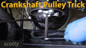 lexus ls 460 timing belt or chain crankshaft pulley removal trick youtube