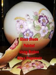 hurricane l shades replacement painted glass l shades jenny floravitas reverse painted glass