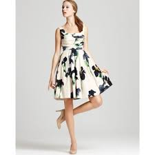 chic dress moschino cheap and chic dress floral printed with back bow