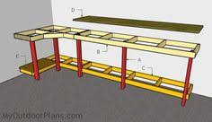corner workbench with measurements plywood and 2x4 basement