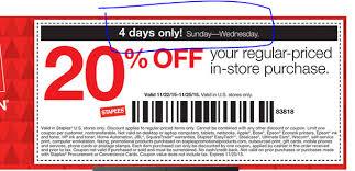 staples coupon black friday nov 22 26 20 off staples b u0026m regular priced items