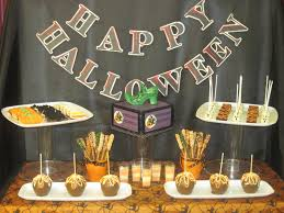 storybook bakery blog halloween dessert buffet table