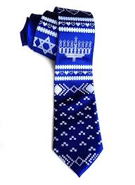 hanukkah sweater silk necktie by cyberoptix