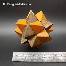funny teaching wooden toy intelligence game for kong ming