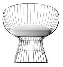 Easychair Design Ideas Platner Easy Chair Mit Ottoman Brauntoene Ambiente Andrea Outloud