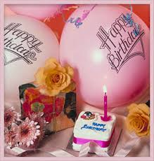 50th birthday flowers and balloons free birthday clipart animations