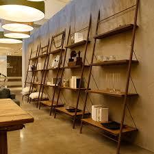 liberia easy leaning oak bookcase