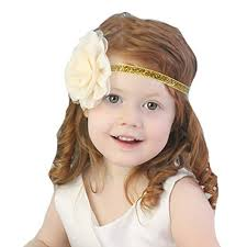 gold headbands miugle baby girl glitter gold headbands with bows