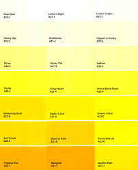 yellow paint colors color chart idolza