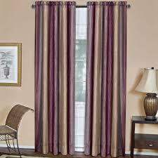 Aubergine Curtains Achim Semi Opaque Ombre 50 In W X 63 In L Curtain Panel In